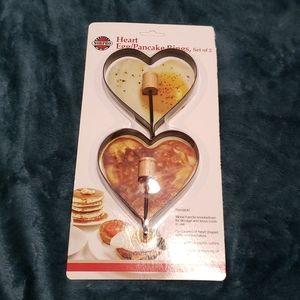 Heart Pancake Rings
